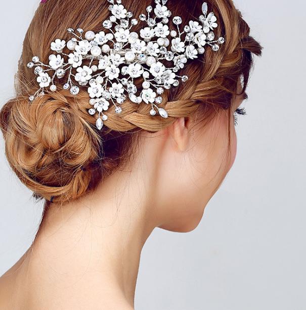 High-grade bridal headdress pearl accessories