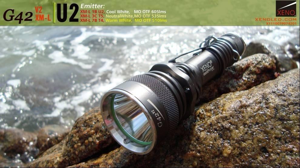 High power, Tactical LED Flashlight, XENO G42