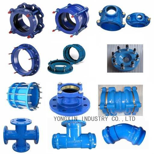 ductile iron pipe fittings double flange bend
