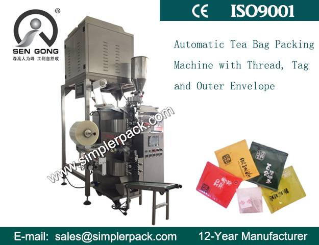 Multi-fuction Inner and Outer Tea Bag Packing Machine with 4 Head Weigh