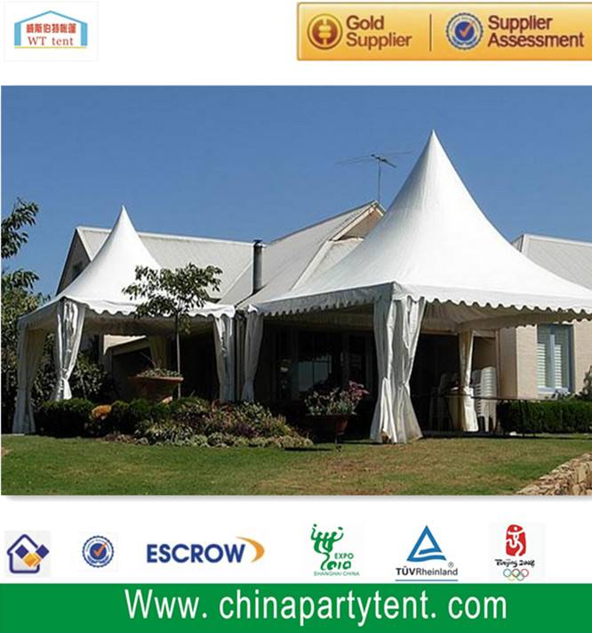 5x5m Auto Show Display Pagoda Tent With Logo Print For Sale