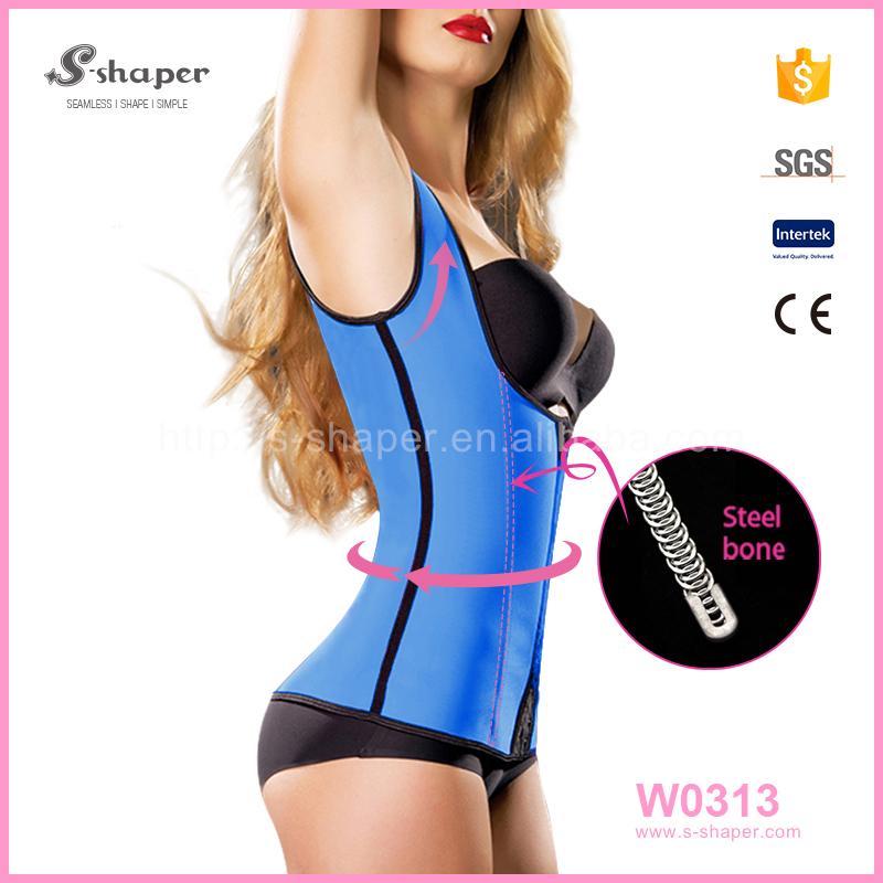 S-shaper Women Slimming Corset Animal Print Latex Waist Trainer Hot Bra Tops Vest