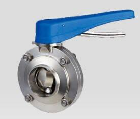 Diary manual clamp type butterfly valve with pull handle,Sanitary butterfly valve,Sanitary butterfly