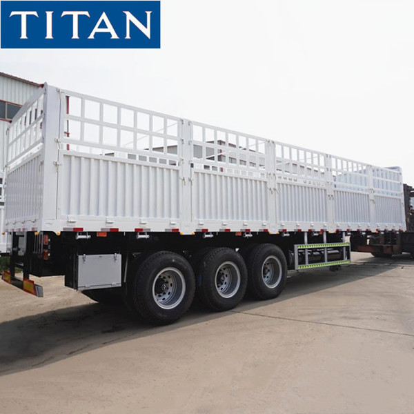 Fence semi trailer 60 Ton for sale in Tanzania