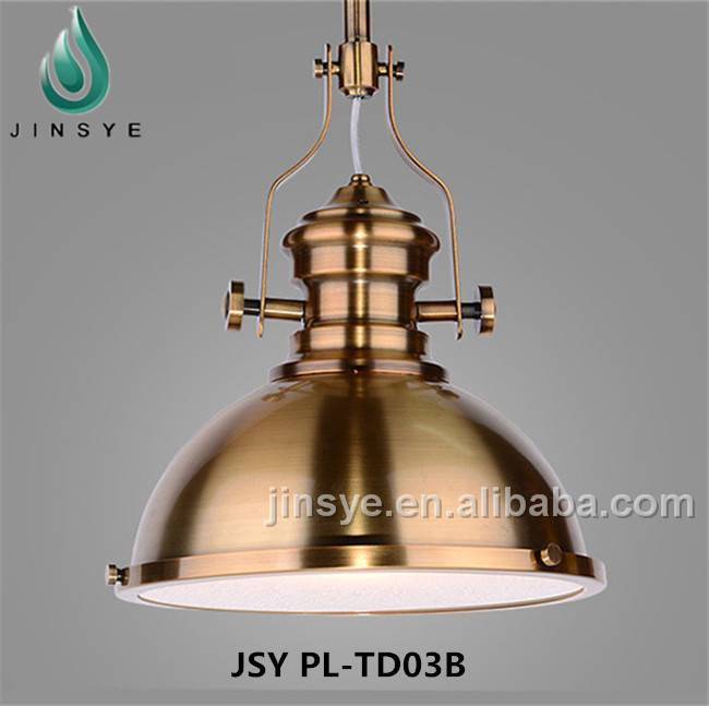 Vintage industrial decoration light rust color iron pendant lamp