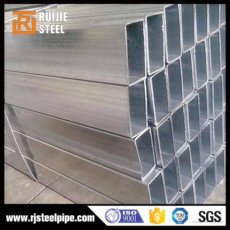 Hot dipped galvanized ERW rectangular hollow section