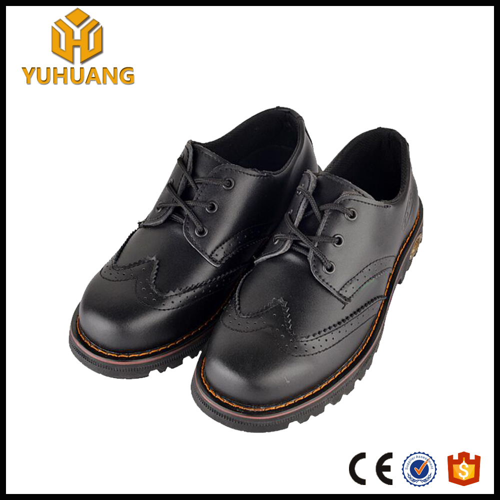 High quality genuine leather office executive shoes with steel toe cap