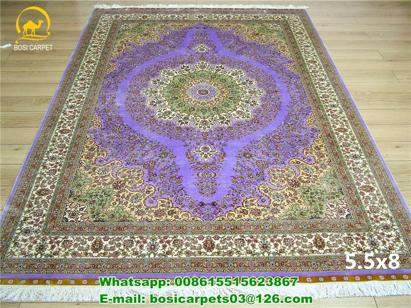 230lines 5.5x8ft Persian Handmade carpet handknotted silk rug quality carpet carver