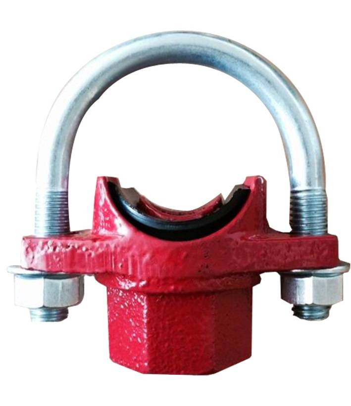 FM UL cUL approved ductile iron grooved pipe fitting u bolted mechanical tee