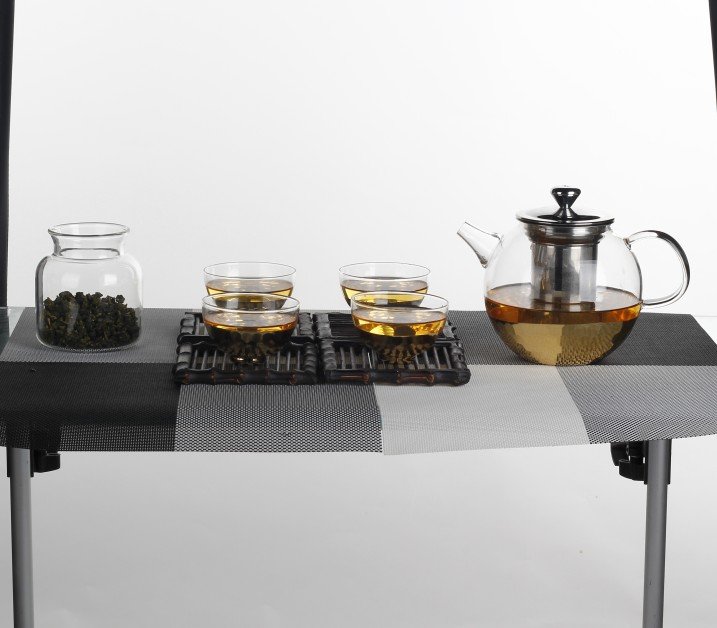 Clear Borosilicate Glass Tea Pots Heat Resistant With 304 Filter