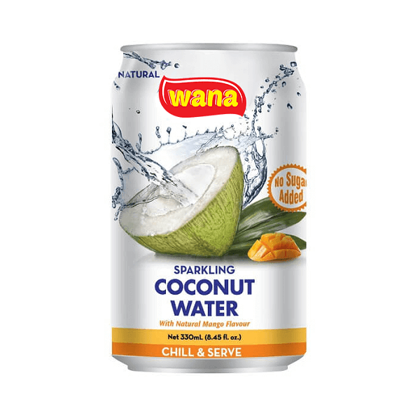 Carbonated Coconut Water With Mango Flavor in Can 330ml