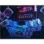 DGX P5 Magic DJ booth 40000 dot/sqm with specific video effect