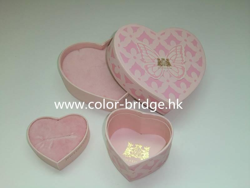 Customizing Heart Shape Cardboard Paper Gift Box Jewelry Box