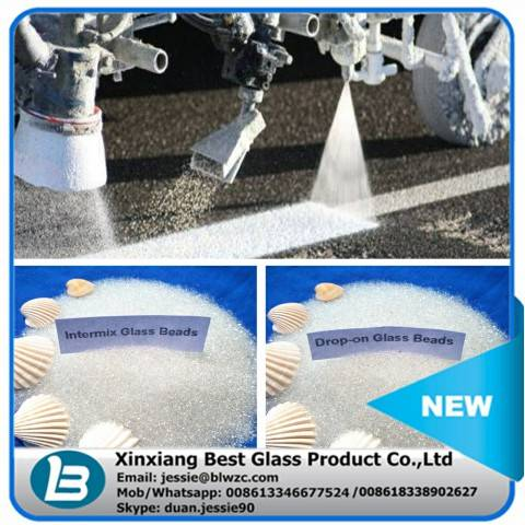 Long warranty coated moisture proof pavement marking paint glass beads with no impurity