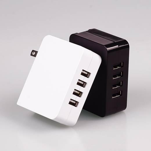 4 port USB desktop charger, tablet charger, desktop travel charger 5 v 4.9a power supply