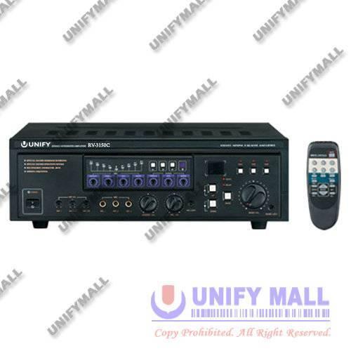 UNIFY REV-RV3150C 2-Channel 150W+150W Karaoke Amplifier with Remote