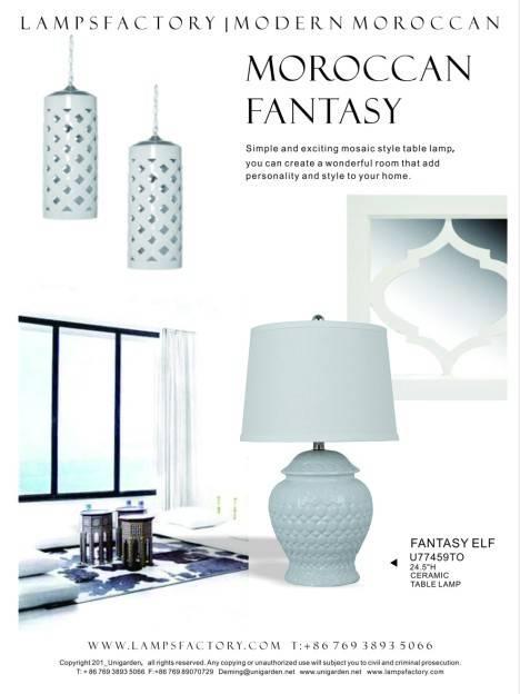 "24.5""H ceramic table lamp"