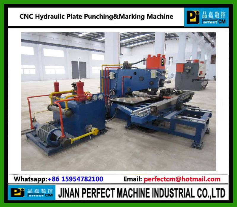 CNC Hydraulic Punching Drilling Marking Machine For Plates