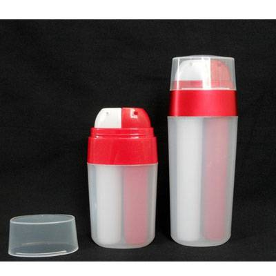 20ml double tube plastic cream bottle, plastic lotion bottle