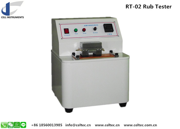 Ink abrasion resistance tester for printed material