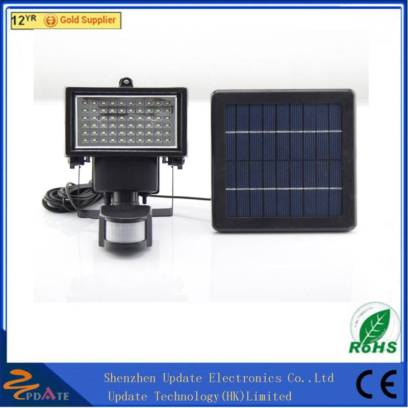 Portable Solar Powered Led Light Solar Led Flood Light With Pir Motion Sensor