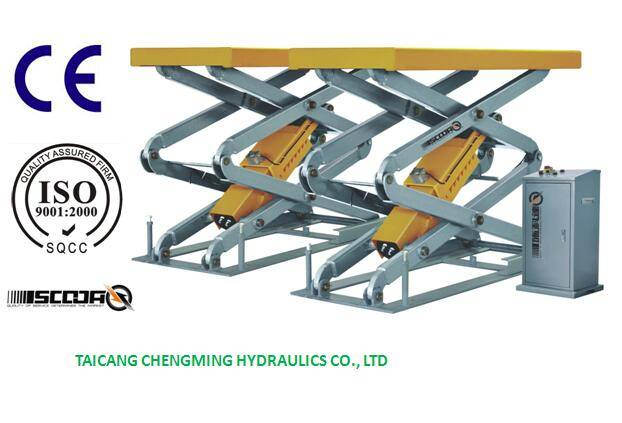 Hydraulic in Ground Full Rise Electrical Scissor Car Lift