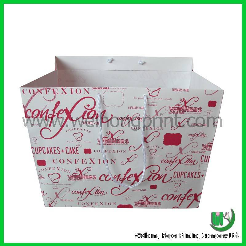 high quality kraft paper bag for gift customized design