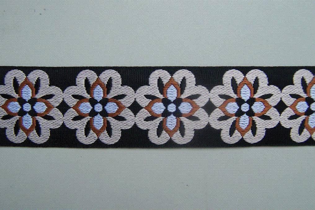 A floral ribbon
