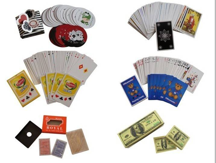 Custom paper playing cards
