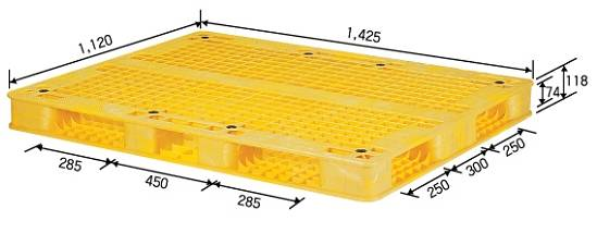 Reversible Plastic Pallet for Medium Duty Service(Grilled Type)