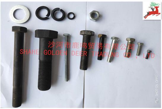 Hexagonal zinc-plated titanium-plated screws