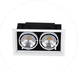 Recessed double head Ceiling Grill sqaure LED Downlight