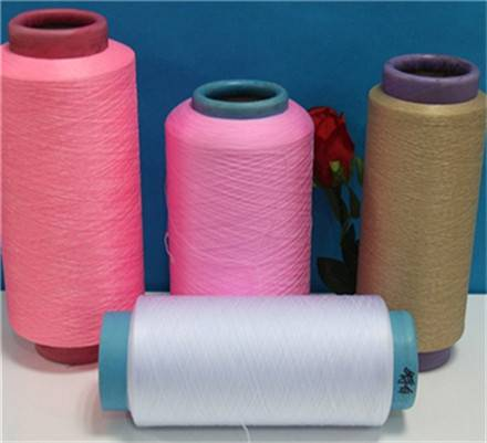100% Polyester DTY textured filament yarn 75d - 630d dope dyed color for knitting