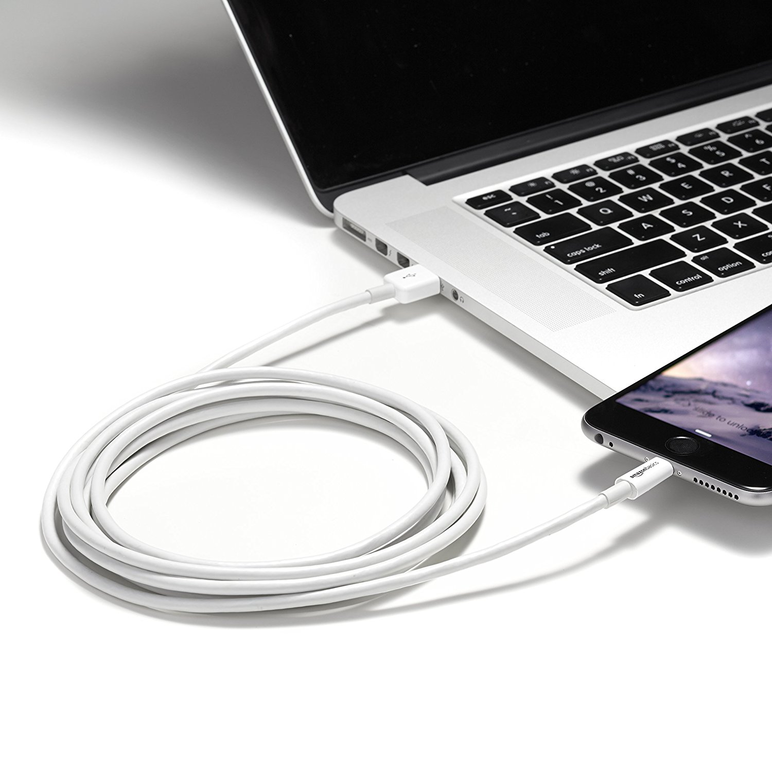 Fashion USB Cable MFi Certified White 6 Feet 1.8 Meters Charger for Phone and Smart Phone
