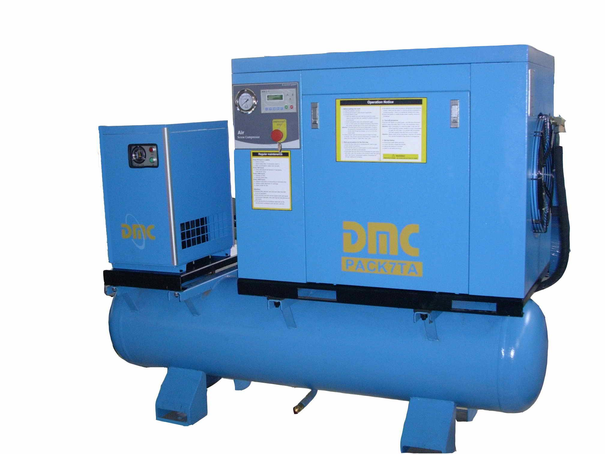10hp screw compressor with dryer and tank