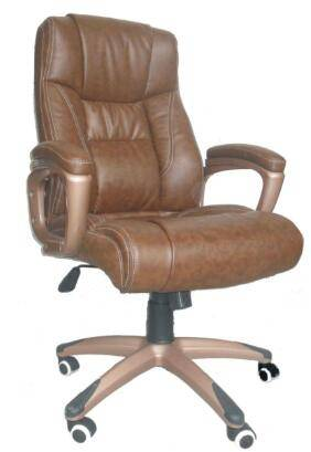 Boss Manager Brown Desk High back Arm Office Chair PU Leather Conference room