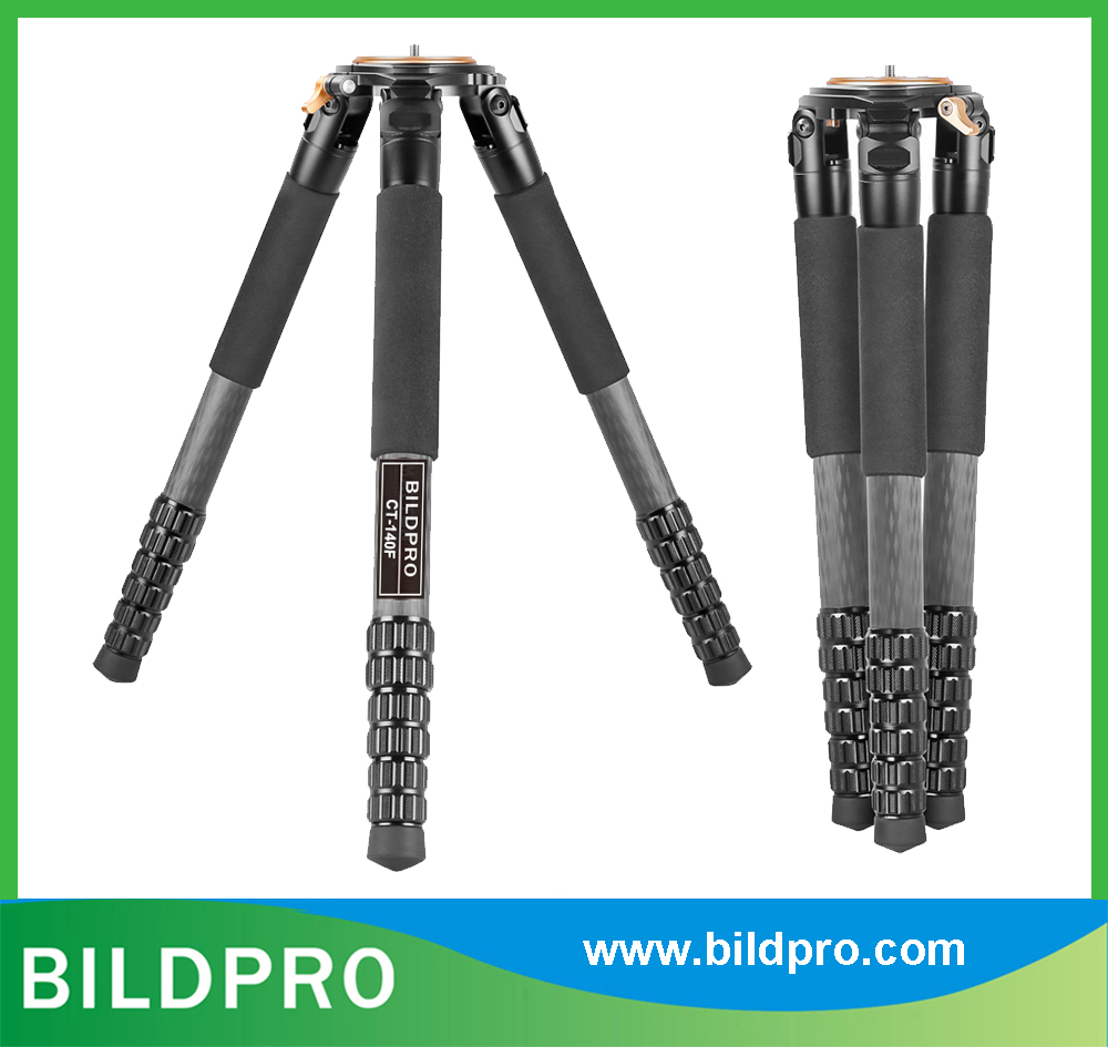 BILDPRO 36mm 10X Carbon Fiber Tripod CNC Trident 50kg Heavy Load Video Stand