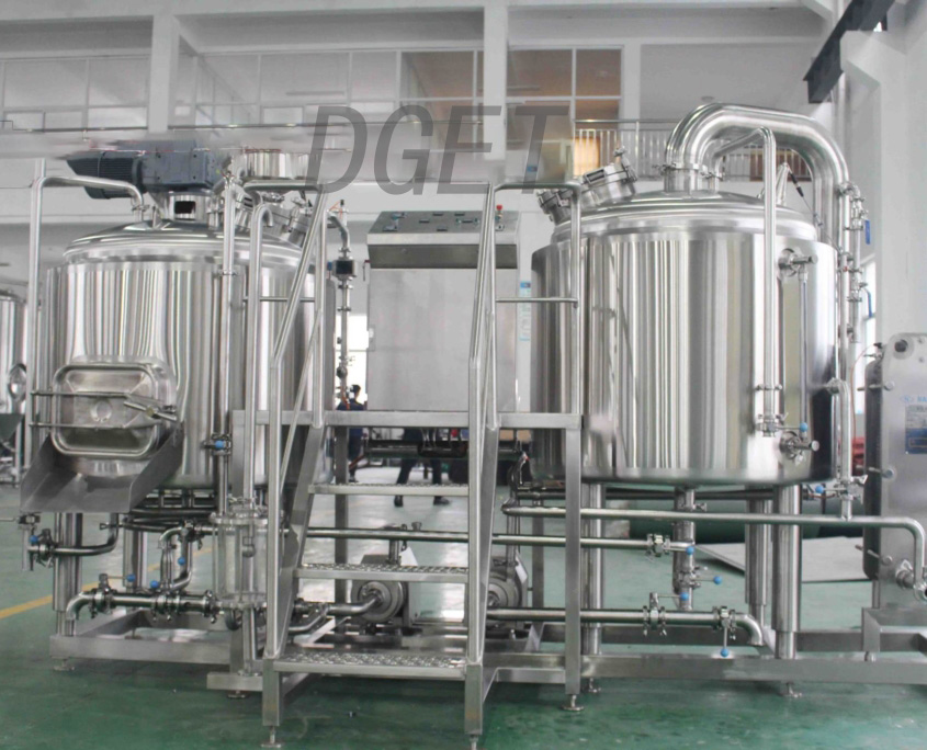 1500L 2/3/4 vessel utility commercial beer making equipment