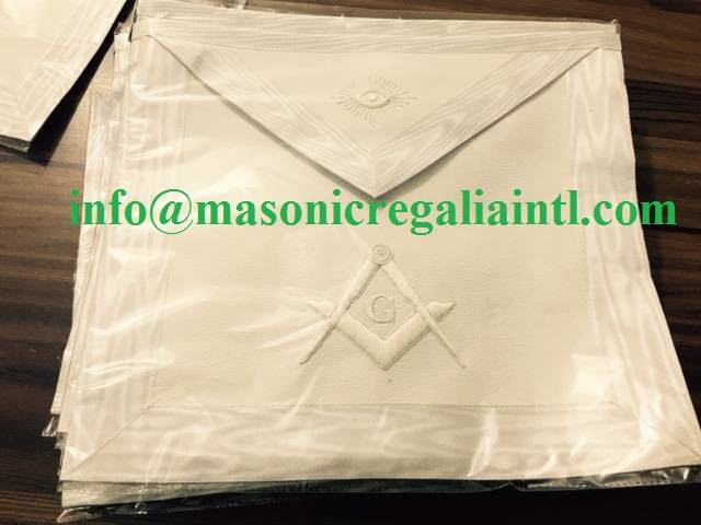 ALL WHITE MASTER MASON APRON