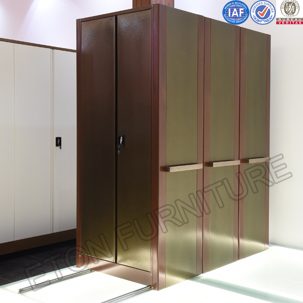 More luxury Bronze Color Mobile Filing Shelf