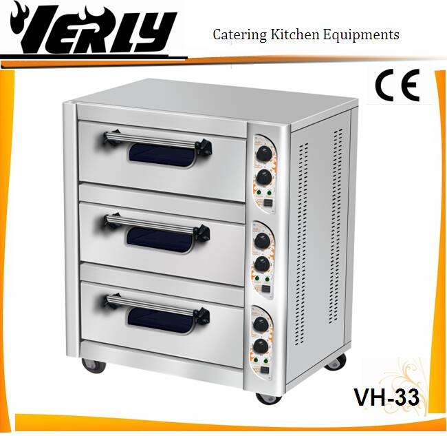 CE cetificate 3 tier 3 tray electric oven/ bread oven/ electric backing oven