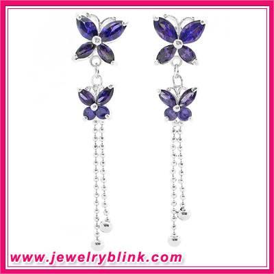 Purple Butterfly Earring 11059