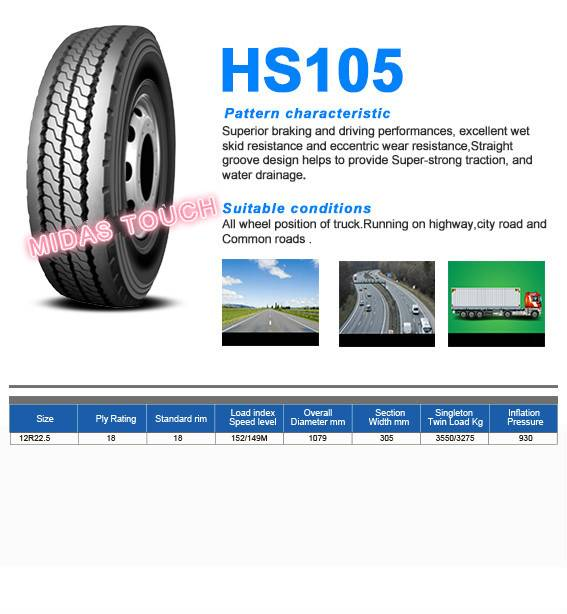 TRUCK TIRE-medium/long-haul vehicles