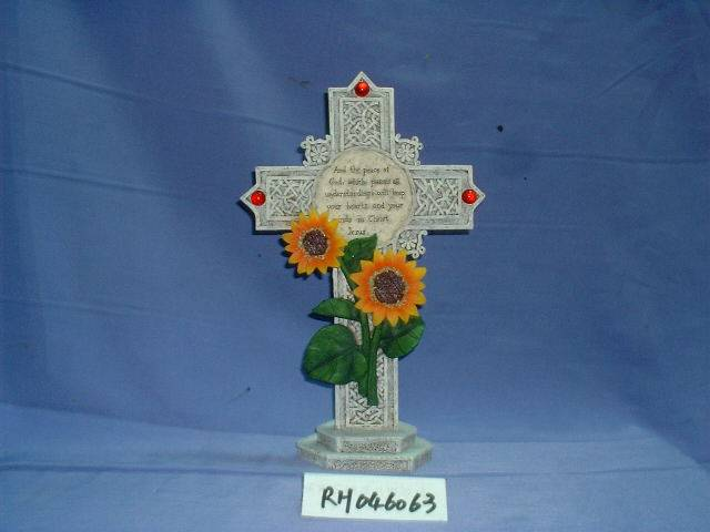 Poly resin cross, crucifix