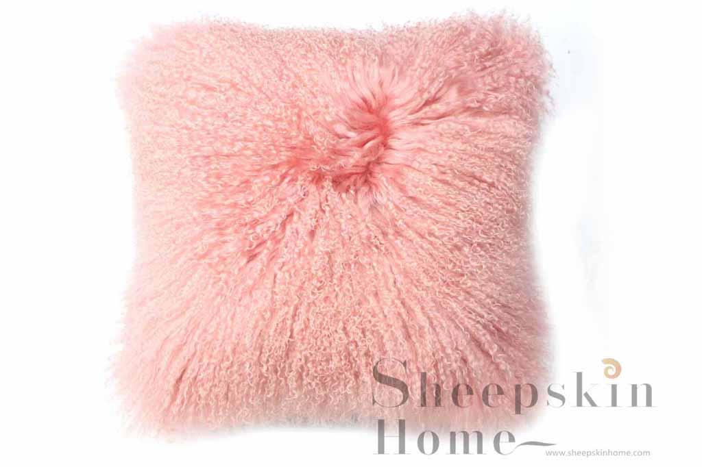 Tibet lamb skin curly cushions