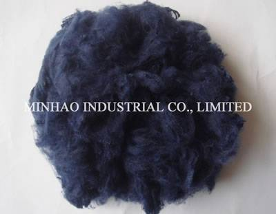 Polyester staple fiber navy color