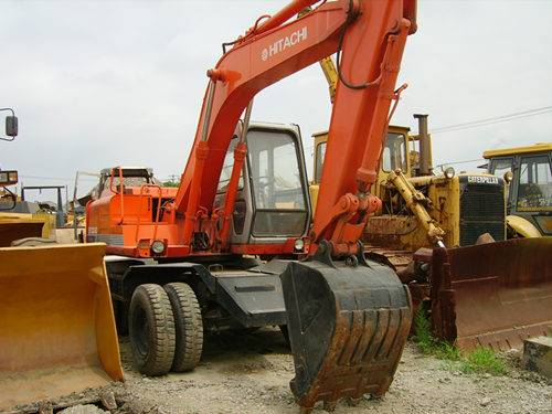 used EX100WD HITACHI wheel excavator