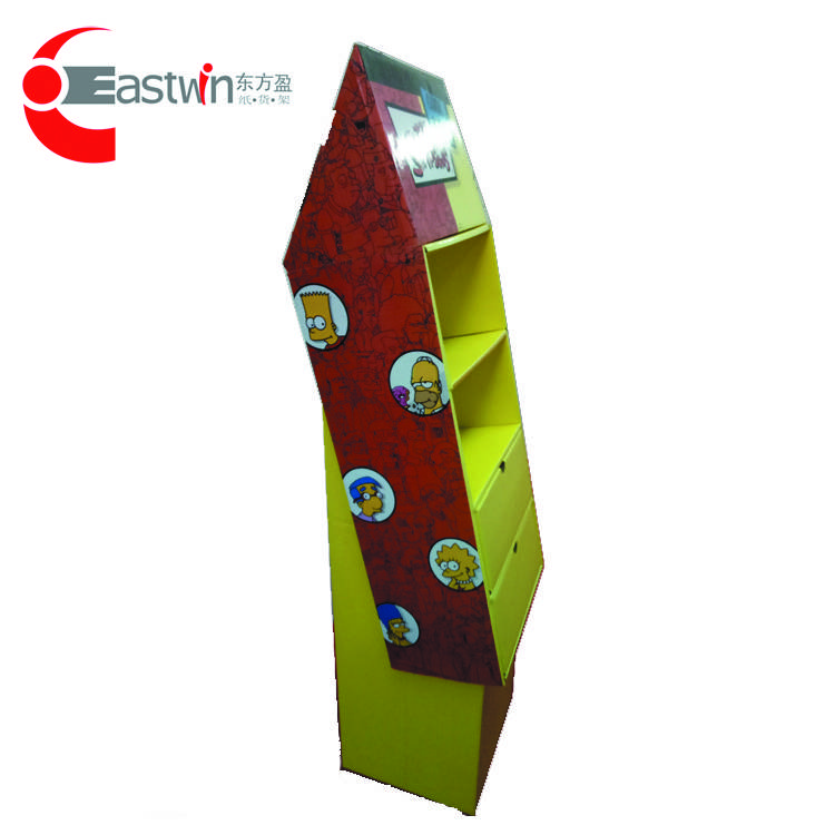 factory price cardboard display paper stand paper shelf