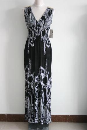 Hot Sale New Fashion V-Neck Mexi Dress