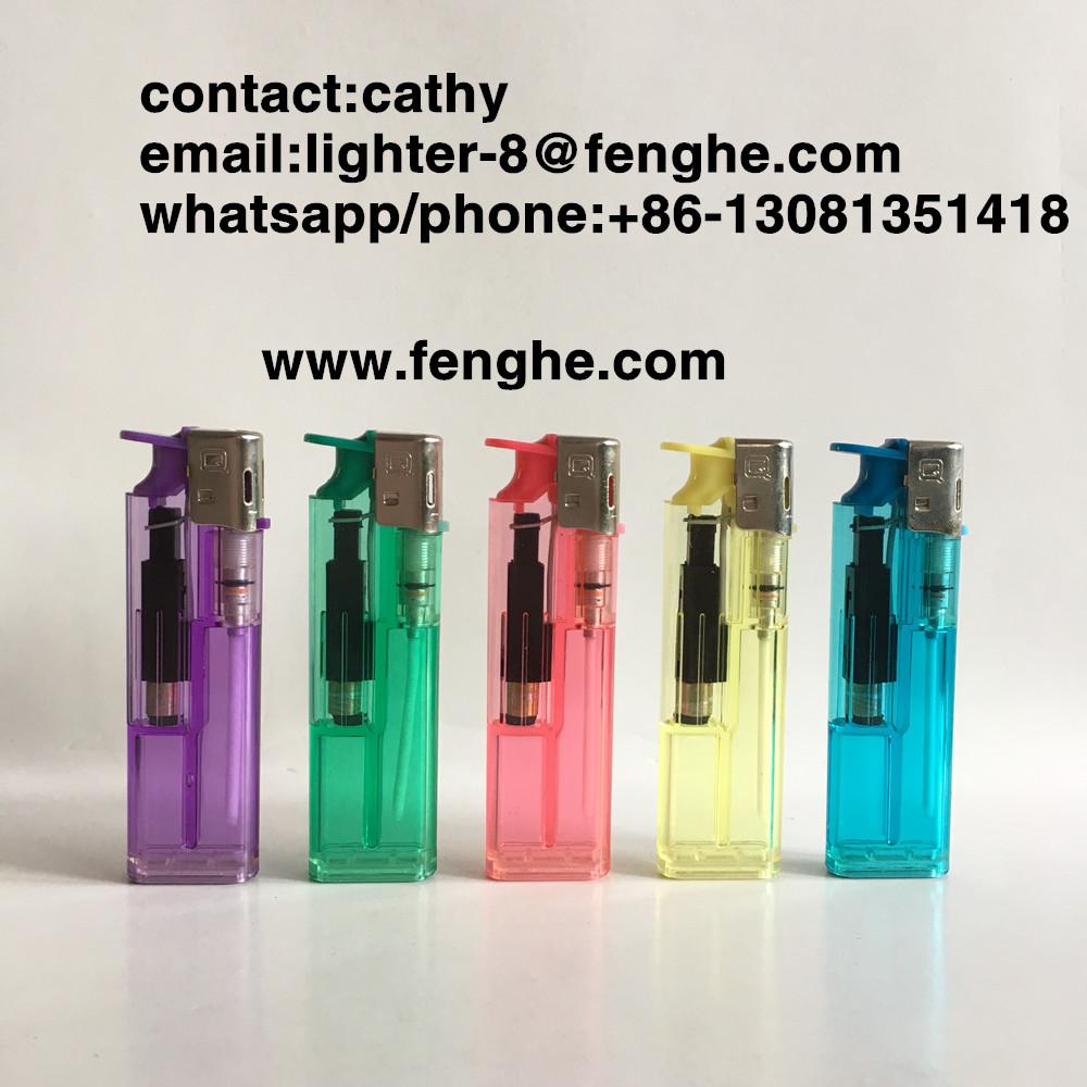 FH-816 slide button electronic lighter disposable lighter custom